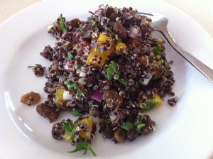 Black Quinoa & Orange Salad