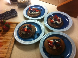 Cacao pancakes for dinner, yum!!